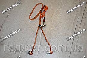 Наушники-Молния оранжевого цвета. Наушники., фото 2