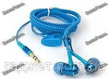 Наушники-Молния синего голубого цвета. Вакуумные наушники. Наушники., фото 2