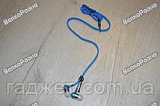 Наушники-Молния синего голубого цвета. Вакуумные наушники. Наушники., фото 3