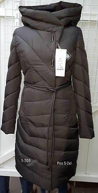 Пальто женское оливка Svidni 138 скидка