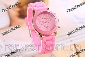 Женские часы Geneva светло розового цвета., фото 3