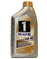 Моторное масло для двигателя Mobil1(Мобил) 0W40 1литр