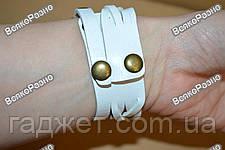 Оригинальные женские часы-браслет белого цвета с цветочком, фото 3