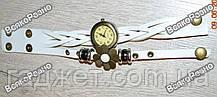 Оригинальные женские часы-браслет белого цвета с цветочком, фото 2