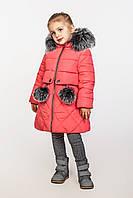 Детское зимнее пальто на тинсулейте на девочку Азиза Размер 104-122 Cvetkov