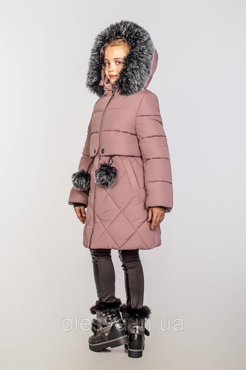 Детское зимнее пальто на тинсулейте на девочку Азиза Размер 146 Cvetkov