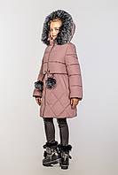 Детское зимнее пальто на тинсулейте на девочку Азиза Размер 128-146 Cvetkov