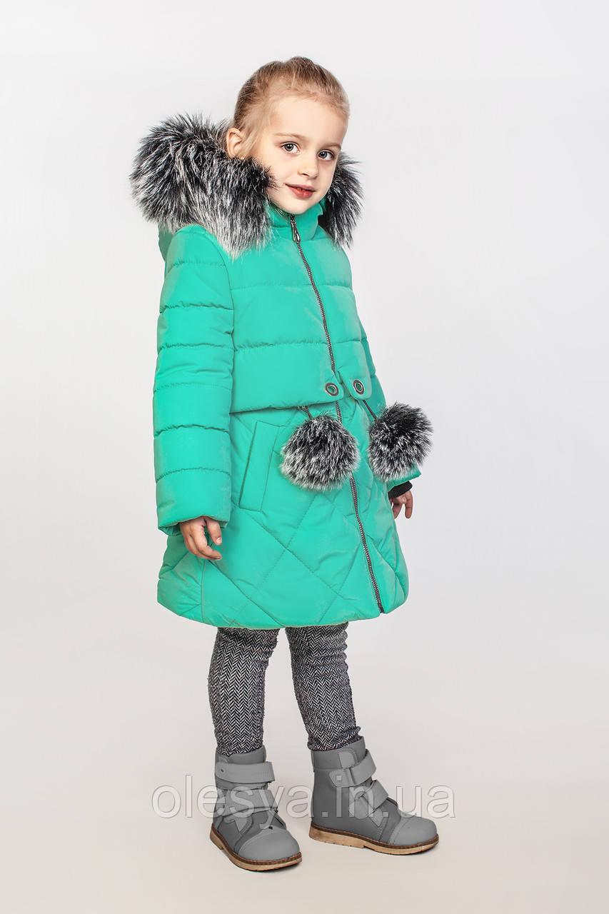 Детское зимнее пальто на тинсулейте на девочку Азиза Размер 122 Cvetkov