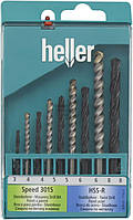 Набор сверл универсальных Heller 3-8 мм 9 шт. 17742