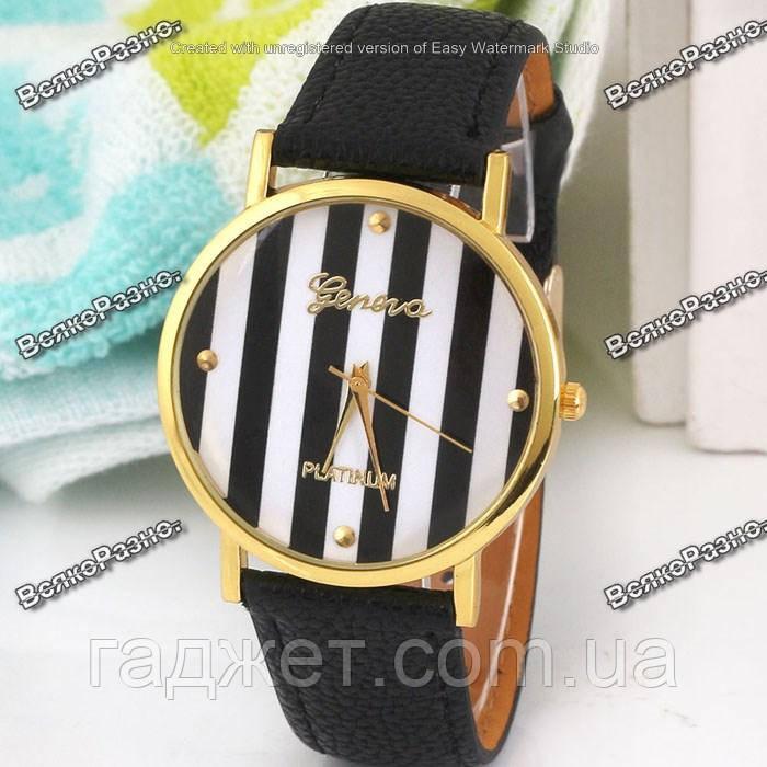 Часы Geneva Platinum черного цвета