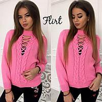 Женский красивый свитер со шнуровкой (7 цветов)