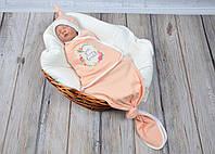 "Безразмерная евро пеленка кокон ""Каспер"" You are loved на липучках для новорожденного ТМ MagBaby 100307"