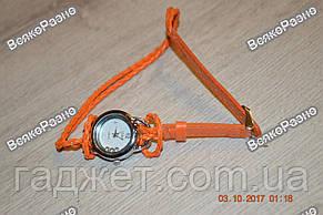 Женские часики IEKE с переплетенным длинным ремешком оранжевого цвета., фото 2