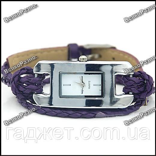 Стильные женские часы IEKE фиолетового цвета.