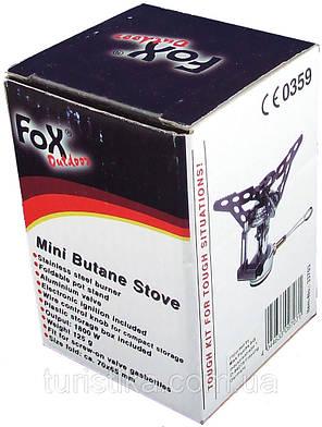 Горелка газовая с пьезоподжигом Fox Outdoor Mini Butane Stove 33703, фото 2