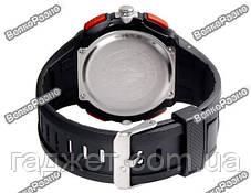 Спортивные водонепроницаемые мужские часы alike черного цвета, фото 3