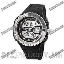 Спортивные водонепроницаемые мужские часы alike черного цвета, фото 2