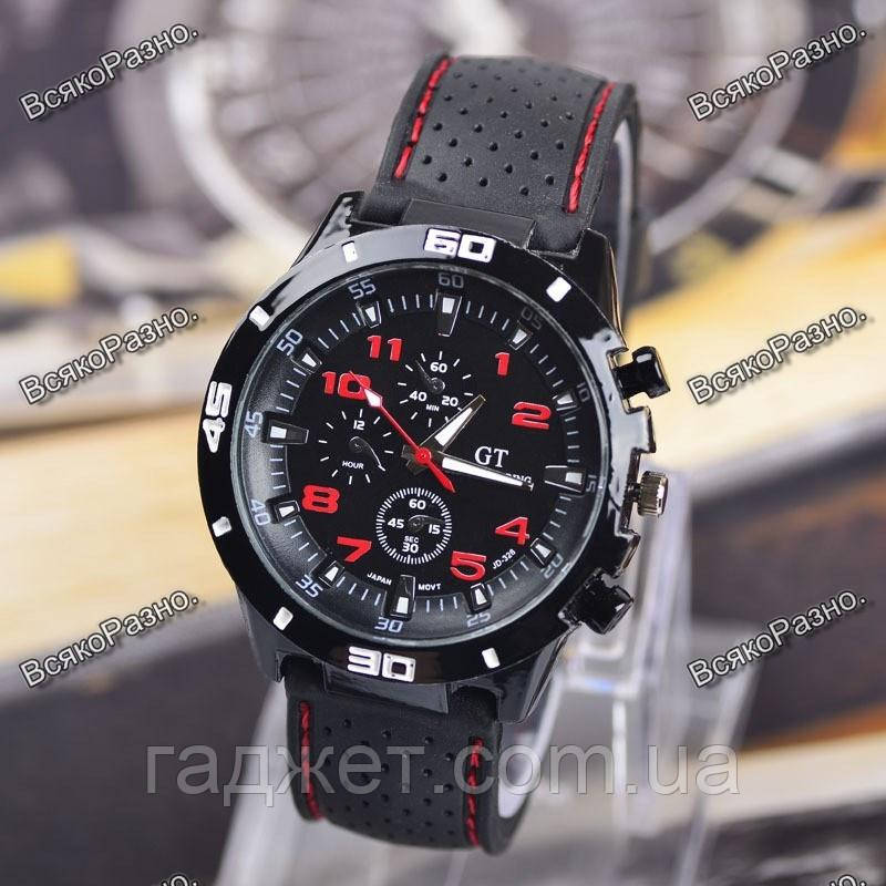 Мужские часы Street Racer GT Черные с красным