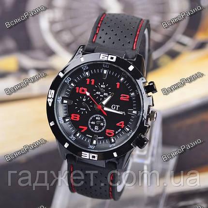 Мужские часы Street Racer GT Черные с красным, фото 2