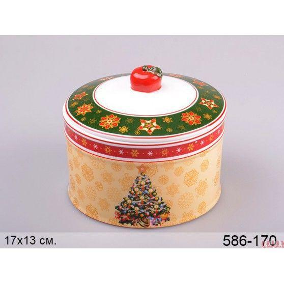 """Lefard банку для сипучих продуктів """"новорічна колекція"""" 17*13 см 586-170"""
