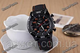 Мужские часы Street Racer GT Черные с оранжевым, фото 2