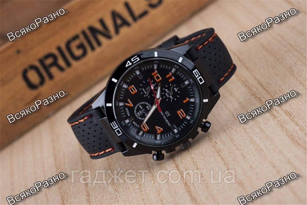 Мужские часы Street Racer GT Черные с оранжевым