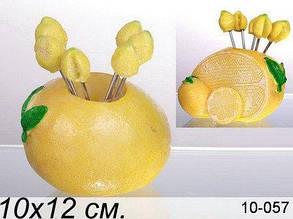 """Lefard набор вилочек """"лимон"""" из 6 шт. на подставке, 9х6.5х9 см, в ящ. 48 наб. 10-057"""