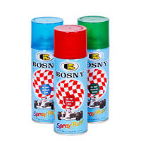 BOSNY Спрей-краска аэрозольная акриловая с металлическим эффектом 400 мл