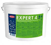 Краска устойчивая к мытью для стен и потолка EXPERT 4, 9 л (бесцветный)