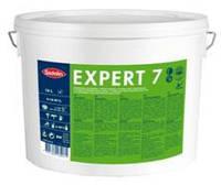 Краска устойчивая к мытью для стен и потолка EXPERT 7, 9 л (бесцветный)