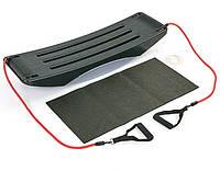 Балансировочная платформа с эспандерами GO GO BALANCE Z-880 черная