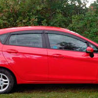 COBRA TUNING Дефлекторы окон на Ford Fiesta VII '08- 5d (накладные)