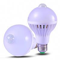 Лампа светодиодная с датчиком движения Е27 9Вт 220В