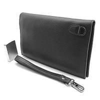Клатч портмоне кожаный мужской черный Prada 5289-2, фото 1