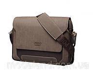 Мужская кожаная сумка Polo.  Модель 434, фото 5