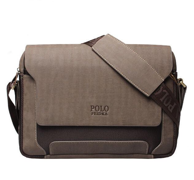 Мужская кожаная сумка Polo.  Модель 434