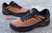 Мужские кожаные кроссовки Ecco Оливка Gore-Tex 40.41.42.43.44.45р-30см
