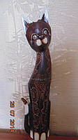Статуэтка кошка деревянная высота 100 см
