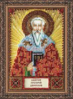 Набор для вышивки бисером именной мини-иконы «Святой Григорий»