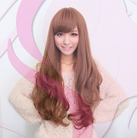 Женский парик из искусственных волос, длинные волнистые волосы, цвет - светло-русый