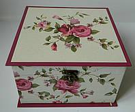 Декоративна подарункова коробка - скринька 21*21 Декоративная подарочная коробка - шкатулка