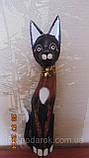 Статуэтка кошка деревянная высота 80 см, фото 2
