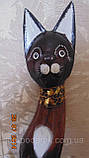 Статуэтка кошка деревянная высота 80 см, фото 3
