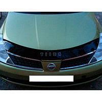 """VipTuning Nissan Tiida I '04-11 Дефлектор капота """"мухобойка"""""""