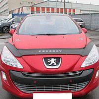 """VipTuning Peugeot 308 I '07-11 Дефлектор капота """"мухобойка"""""""
