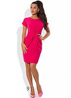 Платье-футляр приталенное с коротким рукавом