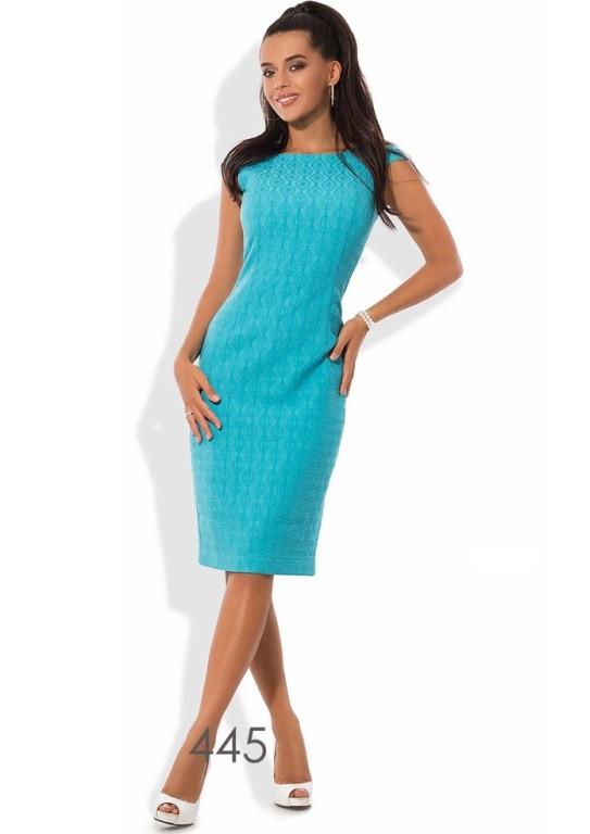 91c54d2df474783 Жаккардовое голубое платье в офис - Lace Secret - Магазин женского белья и  одежды в Киеве