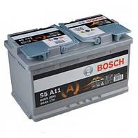 Автомобильный аккумулятор BOSCH AGM (S5A11) 80Ач