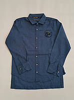 Стильная кашемировая рубашка  на мальчиков 134,146,158 роста ELEGANCE