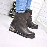 Ботинки женские Kresta шоколад(40 размер)